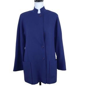 Vintage LC Mae Wool Coat Size Large Lined Purple